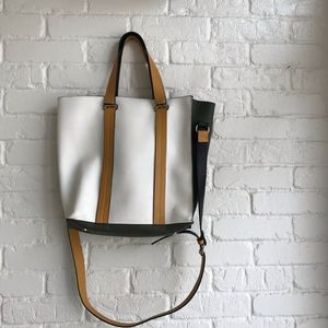 Zara Trafaluc colorblock Fall Purse / Handbag tote